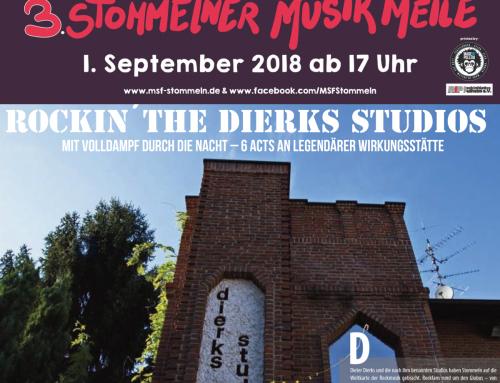 01.09.2018 – Rockin´ the Dierks Studios 3. Stommelner Musikmeile – Mill Sound Festival