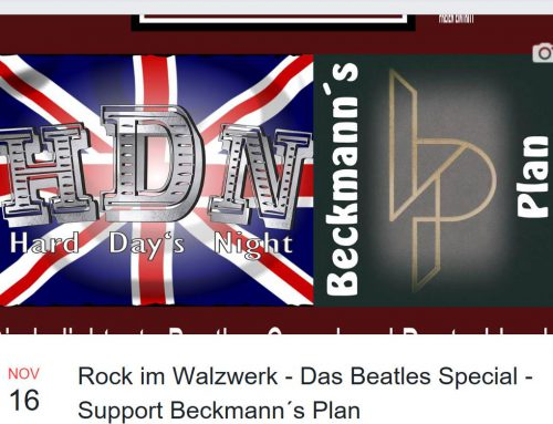 Rock im Walzwerk – Das Beatles Special – Support Beckmann´s Plan