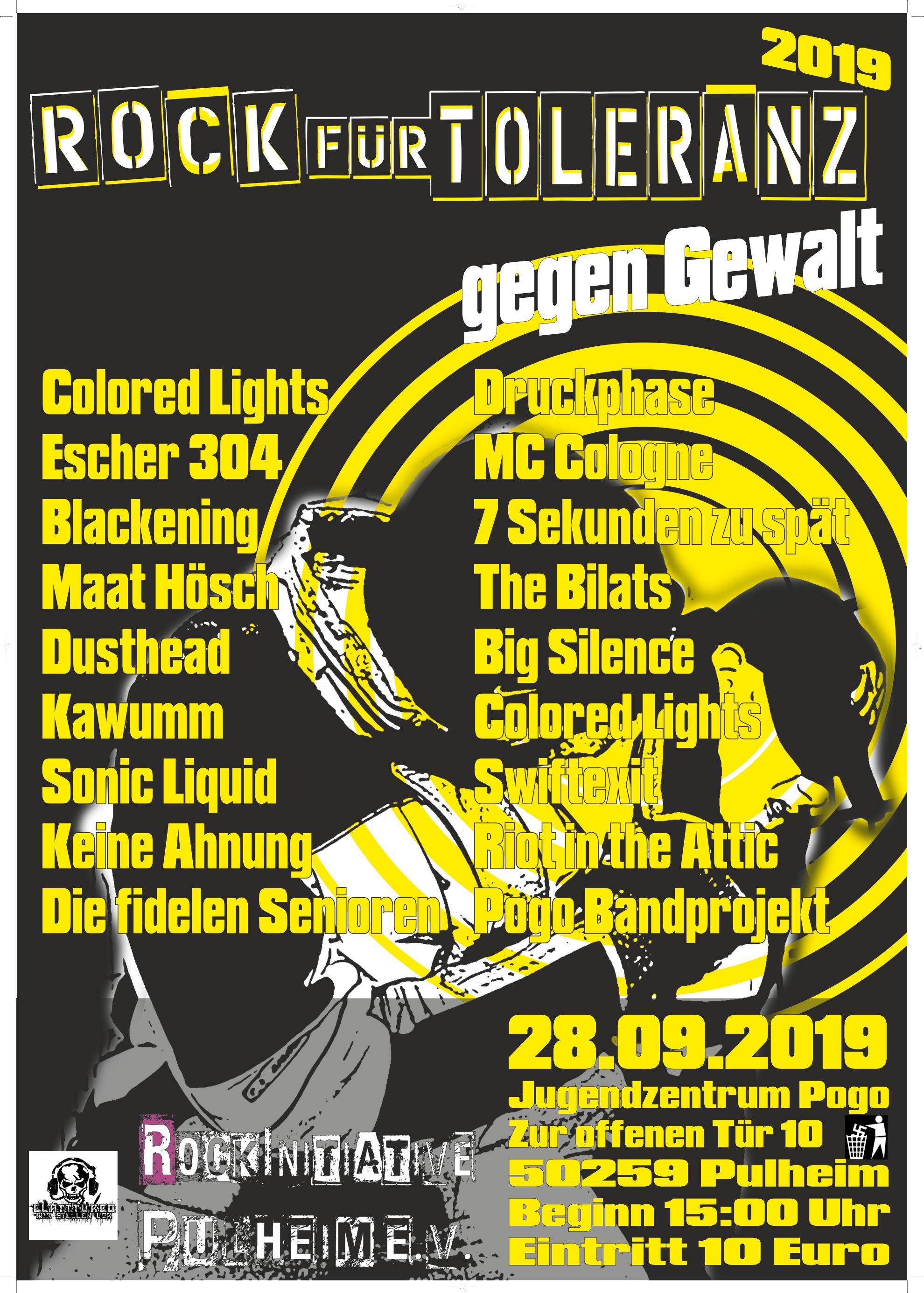 Rock für Toleranz – gegen Gewalt 2019